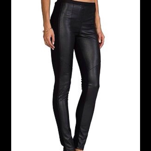 7d1e75c3927a3 BCBGMaxAzria Pants | Black Maddex Faux Leather Leggings | Poshmark