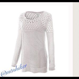 Monoreno Sweaters - 1 Sz L Left! Open Stitch Layered Sweater 🎉8X HP