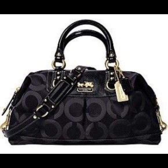 Coach Handbags - Coach Madison Sabrina Op Art signature satchel b2f316f569c5f