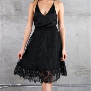 English Factory Dresses & Skirts - Pleated lace skirt