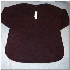 Theory Sweaters - Theory Deep burgundy boat neck knit sweater L