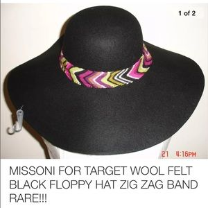 Missoni Accessories - Missoni wide brim felt hat. (For Target) Brown