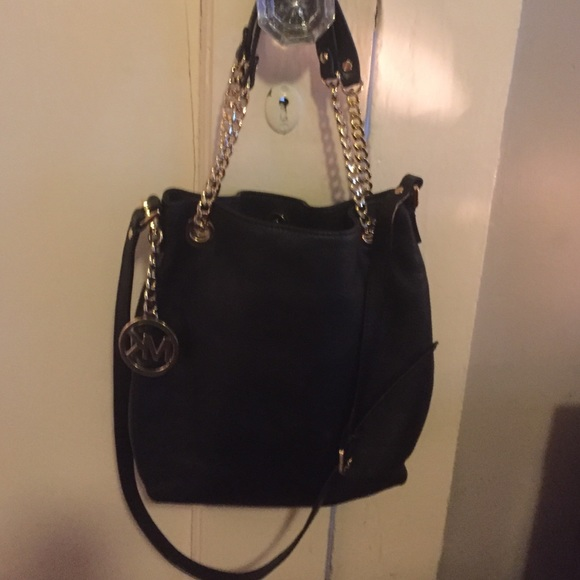 MK black and gold purse