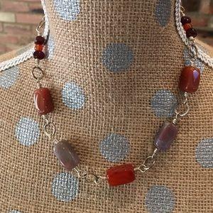 FREE Rust/mauve stone beads necklace w/ min. buy