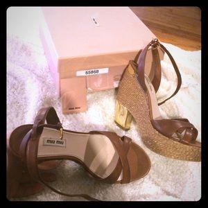 Miu Miu wedge heels