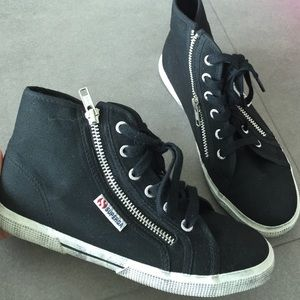 Superga Shoes - Superga black sneakers