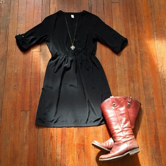 bc3f1b98dd05f Old Navy Dresses | Black 34 Sleeve Dress | Poshmark