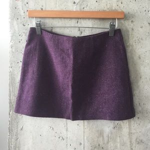 Tweed purple mini skirt