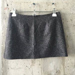 Tweed charcoal mini skirt