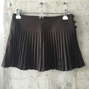 Pinstripe mini pleated skirt
