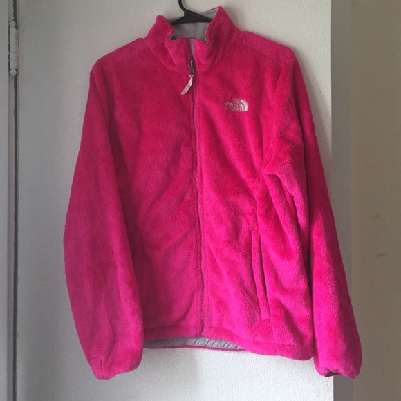 55% off The North Face Jackets & Blazers - Hot Pink Fuzzy North ...