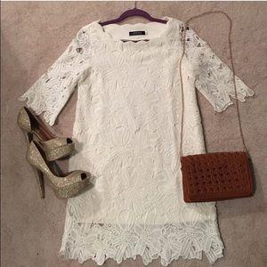 Dresses - Classic White Lace Dress