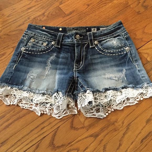 Miss Me Shorts | Lace Trim | Poshmark