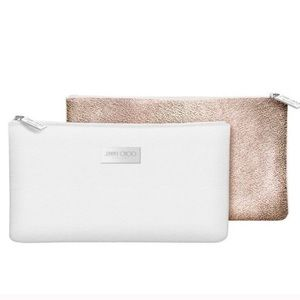 White Jimmy Choo (perfumes) make up bag
