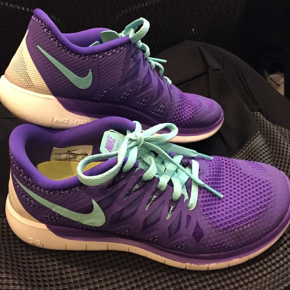 huge selection of d2a86 22623 Nike Shoes - Very lightly worn Nike Free 5.0, purpleturquoise