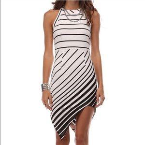 Tea n Cup Dresses & Skirts - SALE!! Asymmetrical White Striped Dress