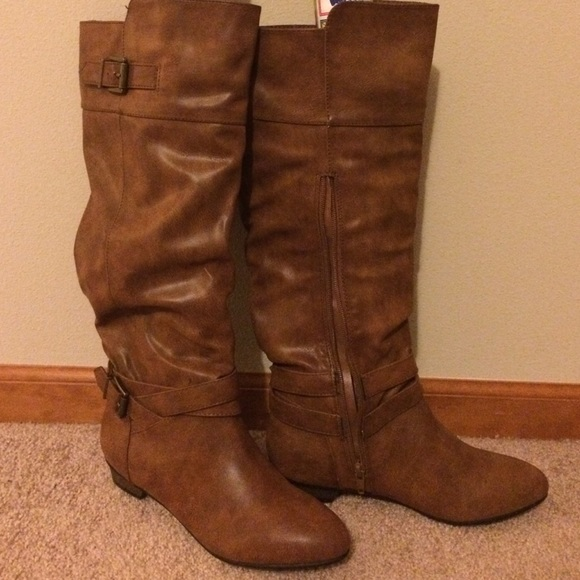 19% off Material Girl Shoes - Macy's Brand Spankin New Boots ...