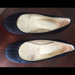 Valentino Pleated Silk Flats 36.5 (6.5)