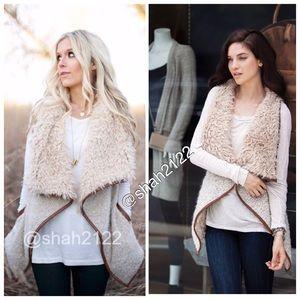 Love tree Jackets & Blazers - Faux Fur vest sleeveless coat jacket trendy New
