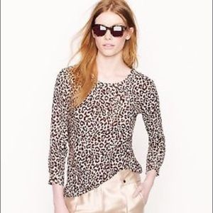 J. Crew Tops - NWT J.Crew Tessa Top Safari Cat  2 Leopard Animal
