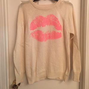 Lips sweater from f21