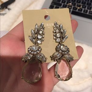J crew crystal drop earrings