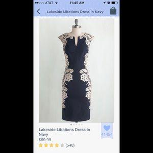 cba1c7f523f ModCloth Dresses - Modcloth Lakeside Libations Dress in Navy