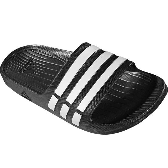 adidas black slippers