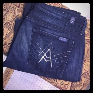 "7 for all mankind ""A"" pocket denim"