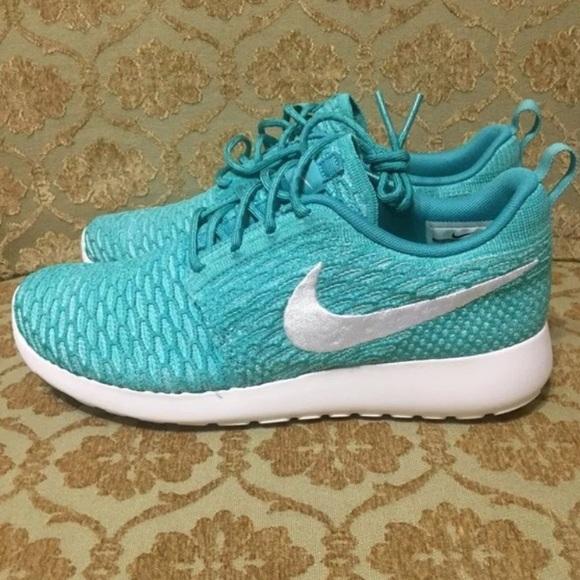 Nike Womens Roshe Run Flyknit Sport Turquoise