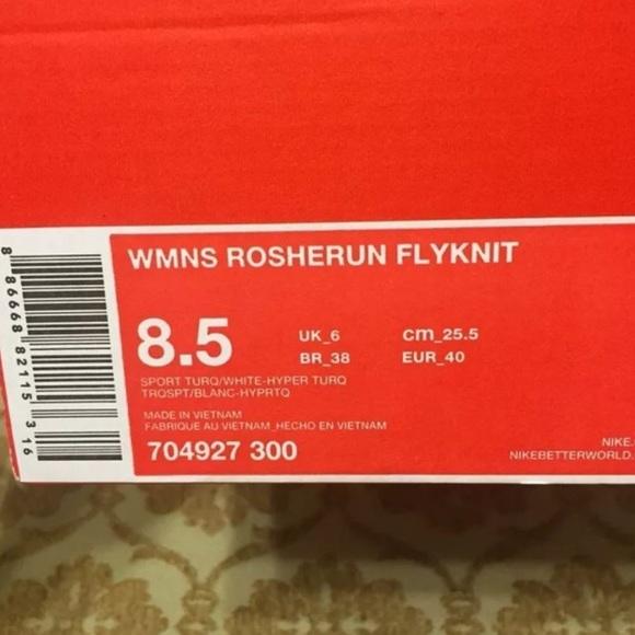 Nike Roshe Run Flyknit Womens Turkis BGpmyR
