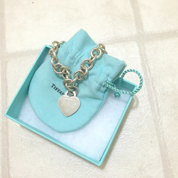 Tiffany & Co. Jewelry - Tiffany & Co Sterling Silver Heart Charm Bracelet