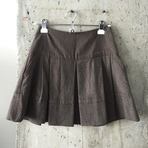 Brown a line skirt