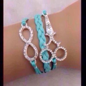Blue Scissors Infinity Bracelet