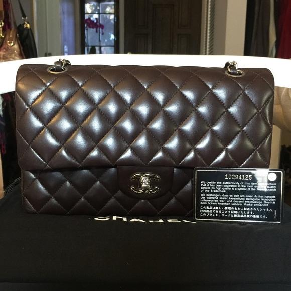 a1136d6bb543 CHANEL Bags | Classic Double Flap Medium Lamb Dark Brown | Poshmark