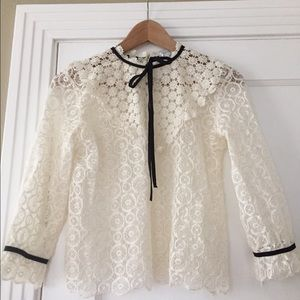 Charlotte Ronson lace top