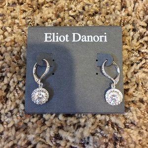 Eliot Danori Jewelry - Circular fake diamond earrings