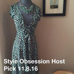 DVF sleeveless wrap. Style obsessed host pick 