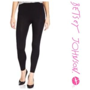 Betsey Johnson Pants - Betsey Johnson Fleece-Lined Black Leggings