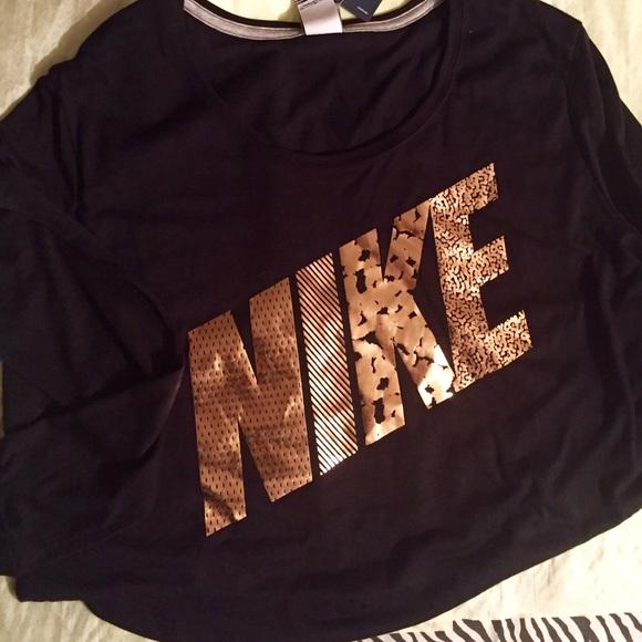 Nike Sweaters Black And Rose Gold Light Sweater Poshmark