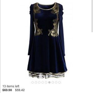 Chicwish Dresses & Skirts - Golden age velvet tulle dress