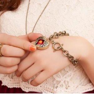 Jewelry - Beautiful red heart wings bracelet