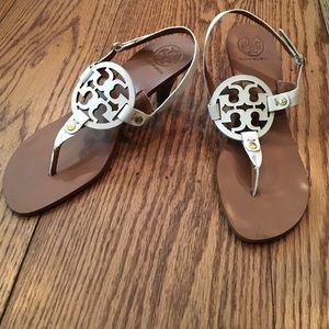 f4d295a81d5d Tory Burch Shoes - Tory Burch white low heel sandals