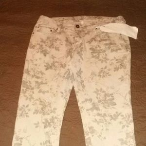 Denim - Beige stretch jeans