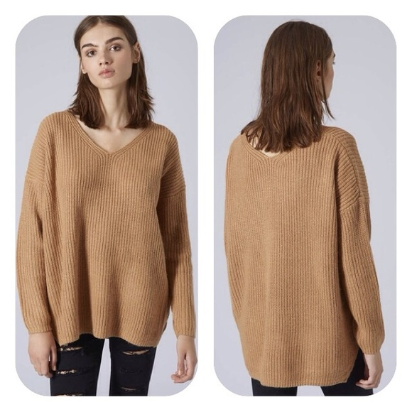 89cdc8e9eb Topshop rib knit camel sweater. M 567cabdd51e9ea5861010294