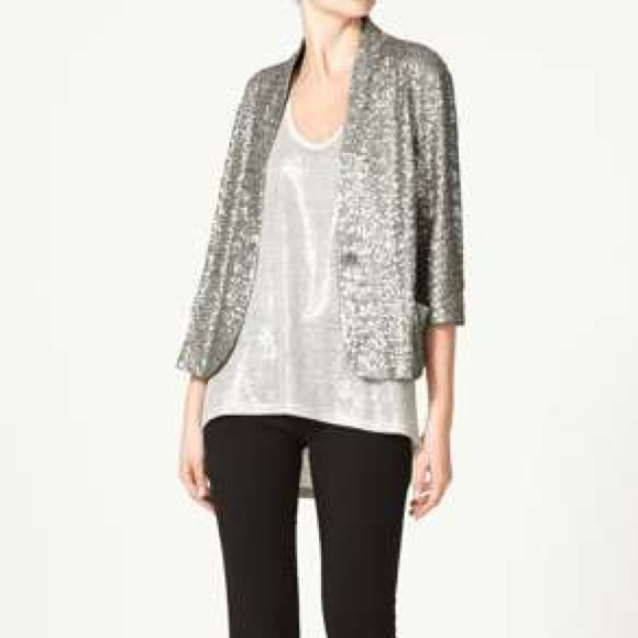 Silver Sequin Jackets for Women