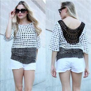 The NEVEAH triangle print top - WHITE