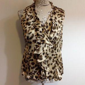 Sunny Leigh Tops - 🆕 Macy's Sunny Leigh Animal Print Top PM