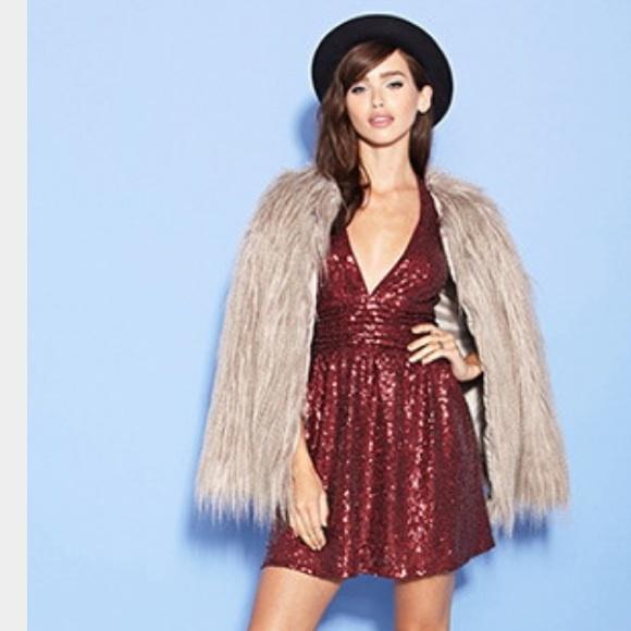 86cead8e Forever 21 Dresses | Berry Sequin Halter Dress | Poshmark