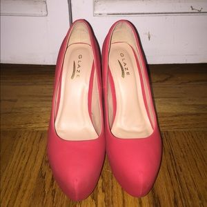 559946ab13d9 Agaci Shoes - Red Nikki Platform Pumps from Agaci